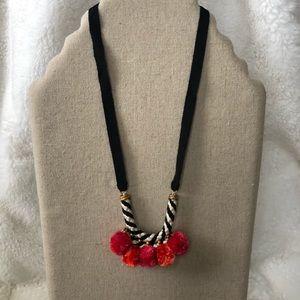 Stella & Dot Nala Pom Pom necklace